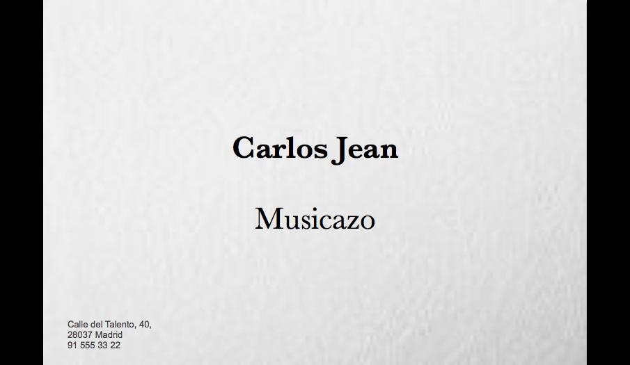 EN MI TARJETA PONE «MUSICAZO»
